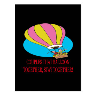 Couples That Balloon Together Postcard