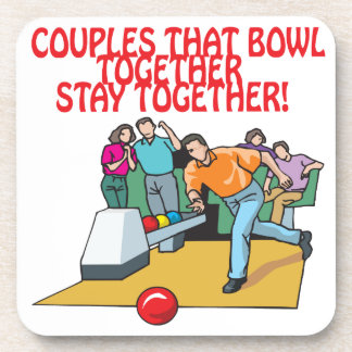 Couples That Bowl Together Beverage Coaster