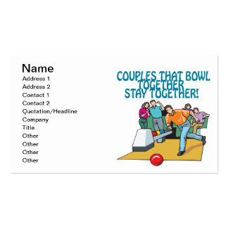 Couples That Bowl Together Business Card Templates