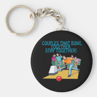 Couples That Bowl Together Key Chains