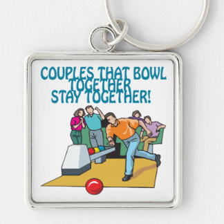 Couples That Bowl Together Keychain