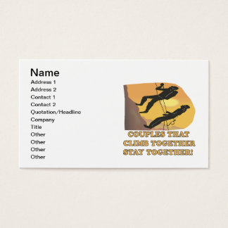 Couples That Climb Together Business Card