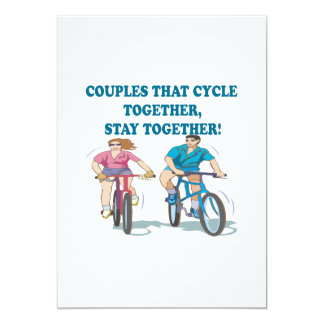 Couples That Cycle Together 2 Card
