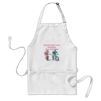 Couples That Cycle Together Adult Apron