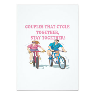 Couples That Cycle Together Card