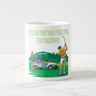 Couples That Golf Together Stay Together 20 Oz Large Ceramic Coffee Mug