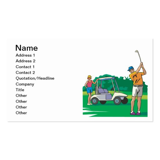 Couples That Golf Together Stay Together Business Card Template