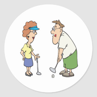 Couples That Golf Together Stay Together Classic Round Sticker
