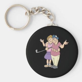 Couples That Golf Together Stay Together Key Chain