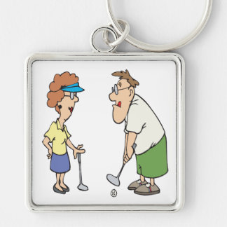 Couples That Golf Together Stay Together Keychain