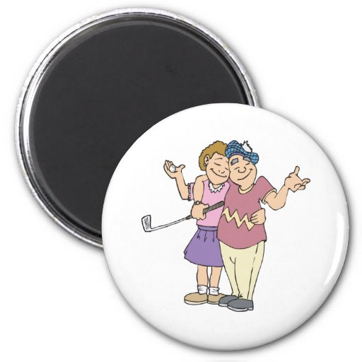 Couples That Golf Together Stay Together Refrigerator Magnets