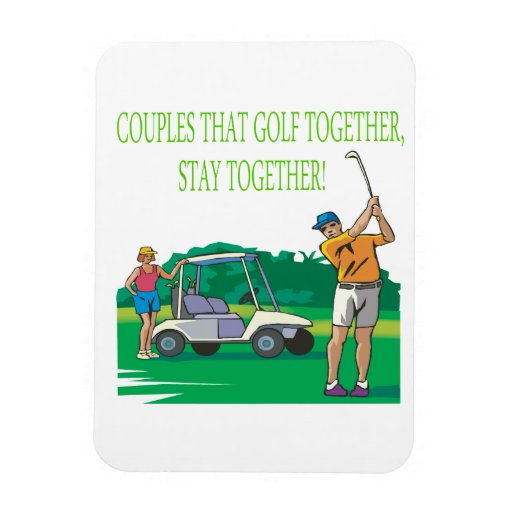 Couples That Golf Together Stay Together Rectangle Magnet