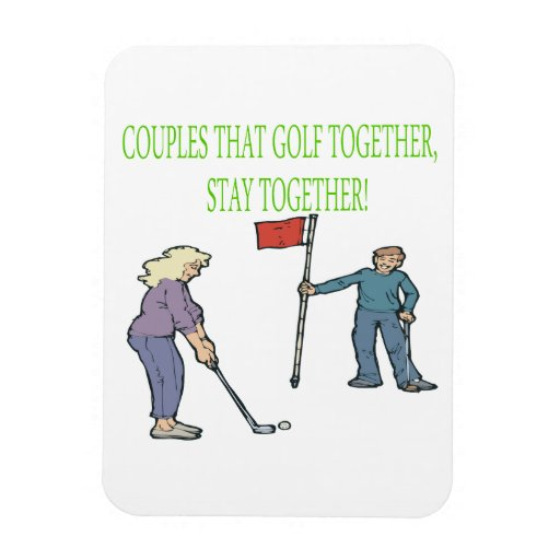 Couples That Golf Together Stay Together Vinyl Magnets
