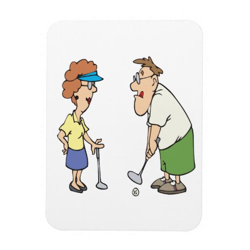 Couples That Golf Together Stay Together Rectangular Magnet