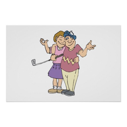 Couples That Golf Together Stay Together Print
