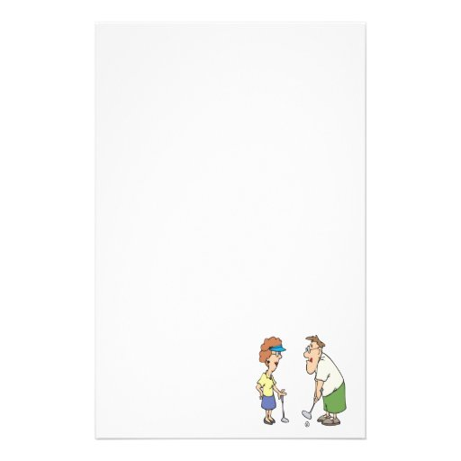 Couples That Golf Together Stay Together Personalized Stationery