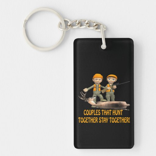 Couples That Hunt Together Stay Together Double-Sided Rectangular Acrylic Keychain