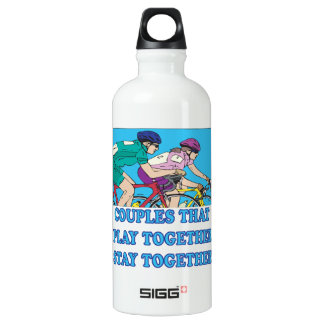 Couples That Play Together Aluminum Water Bottle