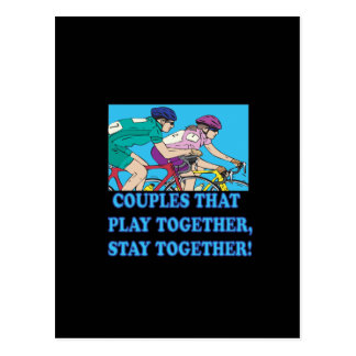 Couples That Play Together Postcard