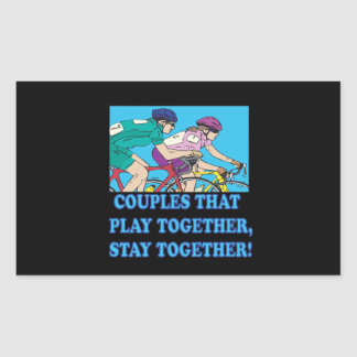 Couples That Play Together Rectangular Sticker