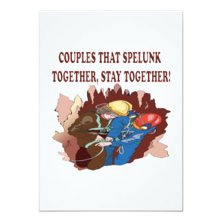 Couples That Spelunk Together Card