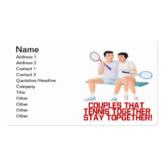 Couples That Tennis Together Business Card