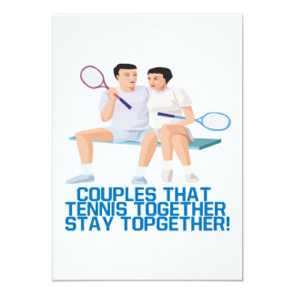 Couples That Tennis Together Card