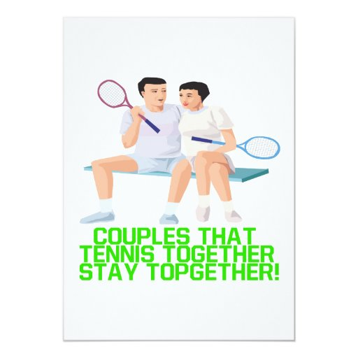 Couples That Tennis Together 5x7 Paper Invitation Card