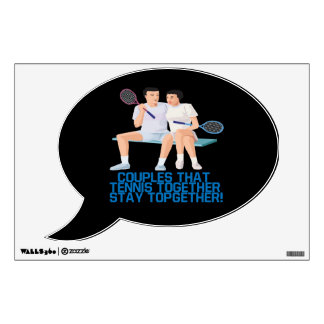 Couples That Tennis Together.png Wall Decal