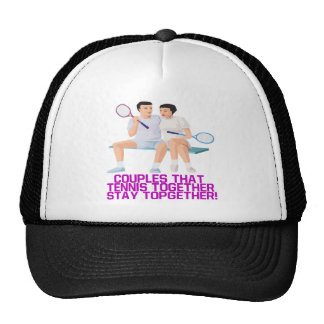 Couples That Tennis Together Trucker Hat