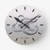 Couples Wall Clock Names & Date