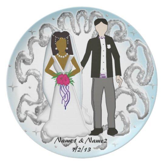 couples wedding memory 4 plate