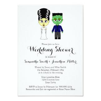 Couples Wedding Shower Halloween Theme Invitation