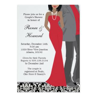 "Couples Wedding Shower Invitation 5"" X 7"" Invitation Card"
