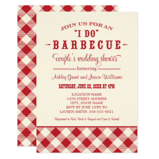 Coupleu0026#39;s Wedding Shower Invitation | U0026quot;I Dou0026quot; BBQ