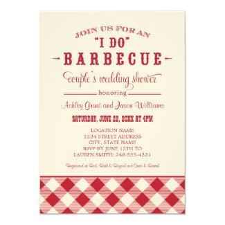 "Couple's Wedding Shower Invitation | ""I Do"" BBQ 5"" X 7"" Invitation Card"