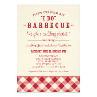 "Couple's Wedding Shower Invitation | ""I Do"" BBQ"