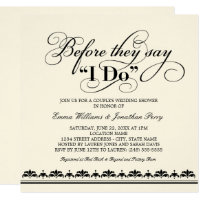 Couples wedding shower invitations announcements zazzle couples wedding shower invitation wedding vows filmwisefo Image collections