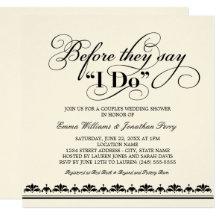 Ordinaire Couples Wedding Shower Invitations U0026 Announcements | Zazzle