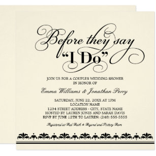 couples shower wedding invitations zazzle