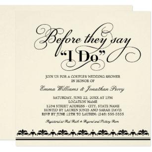 Nice Coupleu0027s Wedding Shower Invitation | Wedding Vows