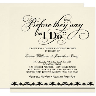 couples shower invitations & announcements | zazzle, Wedding invitations
