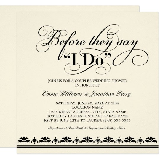 couple's wedding shower invitation | wedding vows | zazzle, Wedding invitations