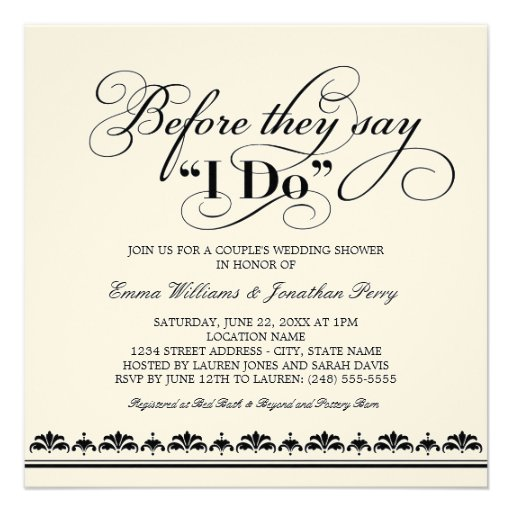 Personalized wedding vows invitations custominvitations4u couples wedding shower invitation wedding vows junglespirit Images