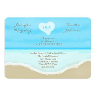 Couples Wedding Shower Invitations Beach