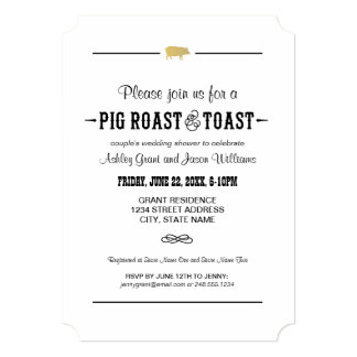 Couple's Wedding Shower | Pig Roast & Toast Card