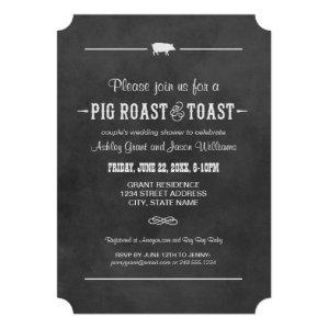 Couple's Wedding Shower | Pig Roast & Toast Invitations