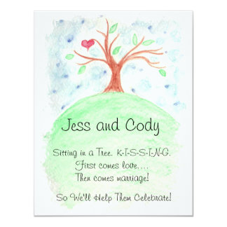 Couple's Wedding Shower Watercolor 4.25x5.5 Paper Invitation Card