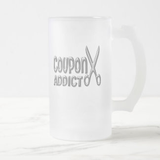Coupon Addict Frosted Glass Beer Mug