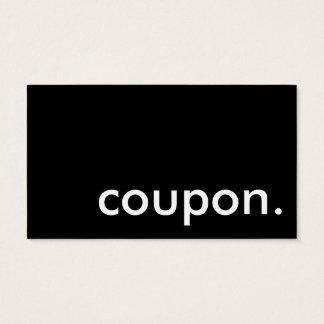 coupon. business card